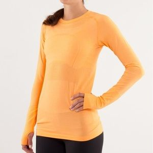 Lululemon Swiftly Tech Long Sleeve Orange